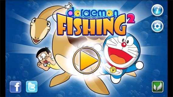 安卓/哆啦A梦钓鱼2(Doraemon Fishing 2)中,玩家变身哆啦A梦、大雄...